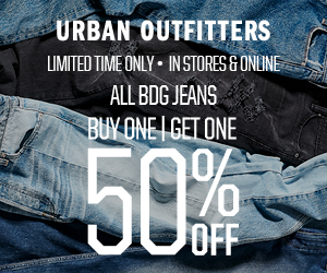 All BDG Jeans BOGO 50% off at Urban Outfitters- In Stores and Online