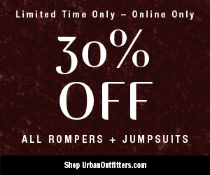 Take 30% Off Women's Rompers + Jumpsuits at UrbanOutfitters