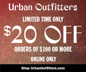Take $20 Off Orders Of $100 Or More At UrbanOutfitters.com