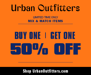 BOGO 50% Off Sitewide at Urban Outfitters