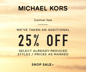 US  - Summer Sale! Enjoy 25% Off Select Already-Reduced Styles at MichaelKors.com. Prices as Marked, see site for details (valid 6/19/17 - 7/2/17)