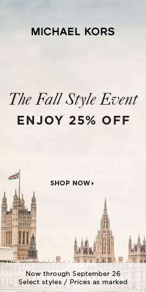 US - Enjoy 25% off your purchase through September 26th at MichaelKors.com
