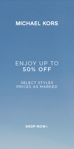 Enjoy Up to 50% Off Select Styles at Michael Kors. Valid 1/4-1/13.
