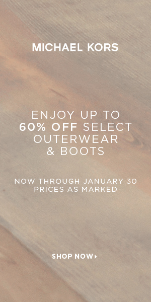 Enjoy Up To 60% Select Outerwear and Boots at Michael Kors! Valid 1/19-1/30