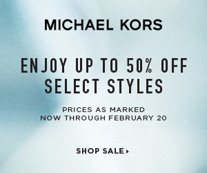 Enjoy Up to 50% Off Select Styles at Michael Kors. Valid 2/16-2/20.