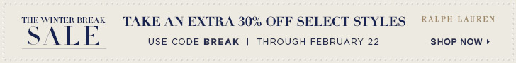Enjoy up to 65% off! Plus, take an extra 30% off select styles with c