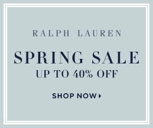 300 x 250 Spring Sale: Enjoy up to 40% off select styles. Valid 5/2-5/22.