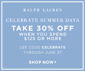300 x 250 Celebrate Summer Days! Take 30% off when you spend $125 or more with code: Celebrate. Valid 6/22-6/27.