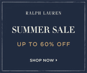 300 x 250 Summer Sale! Enjoy up to 60% off select styles. Valid 7/20-8/30.