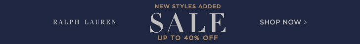 Get up to 40% off Ralph Lauren Sale