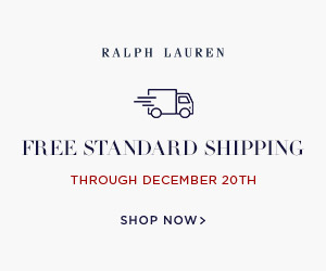 300 x 250 Free Standard Shipping (no threshold). No code needed. Valid through 12/20/17.