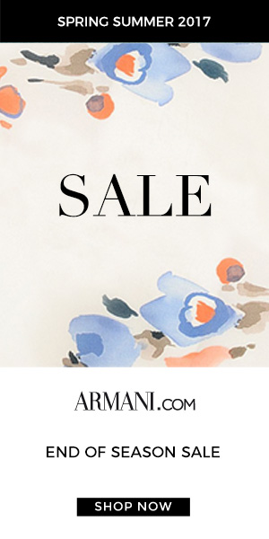 End of Season Sale Spring/Summer 2017 at Armani.com. Shop Now!