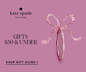 under $50: this season, give a little joy and shop the holiday gift guide at kate spade!