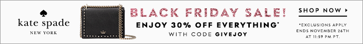 black friday sale! enjoy 30% off everything* with code GIVEJOY *exclusions apply. valid 11/21 - 11/26.