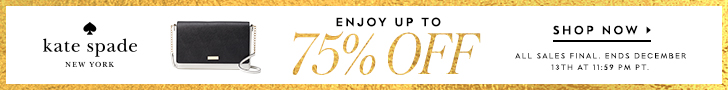 kate spade surprise sale! enjoy up to 75% off, plus free shipping on all orders! valid 12/10 - 12/13. all sales final. shop now!
