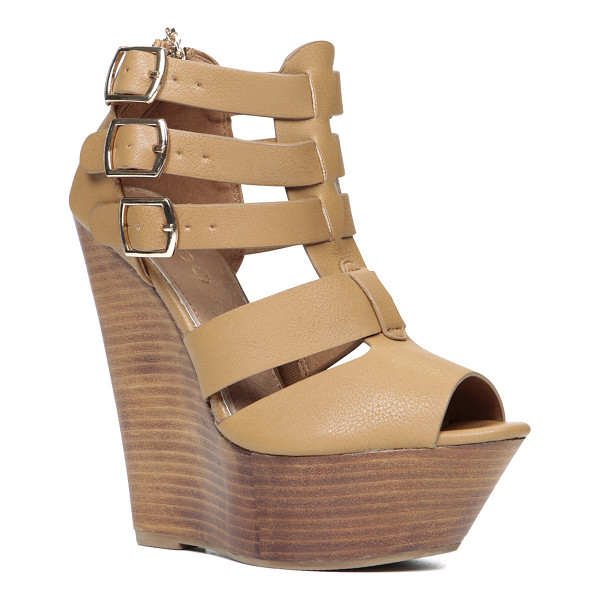 ALDO Abausa sandals - We love these platform wedge sandals for their multi-strap...