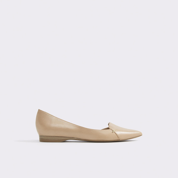 ALDO Adrianne - Minimalism at its best: a streamlined, leather d'Orsay flat...
