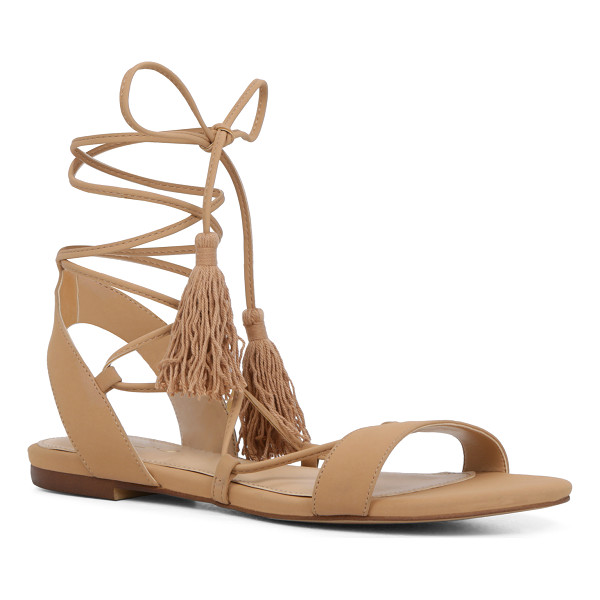 ALDO Agata - Ankle-wrapping tassel ties add a playful wink to a classic...