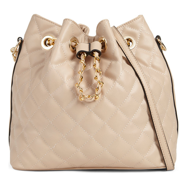 ALDO Alice shoulder bag - Bucket bag is no slouch in quilted leather like material....