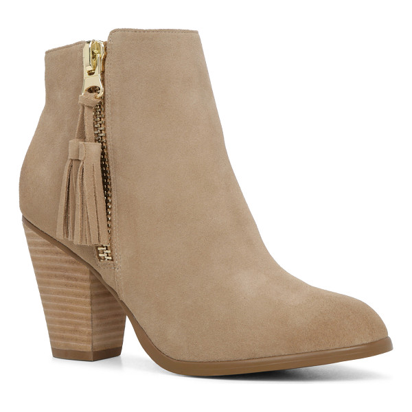 ALDO Asoewiel - This tassel-zip, ankle-skimming bootie is an AM-to-PM...