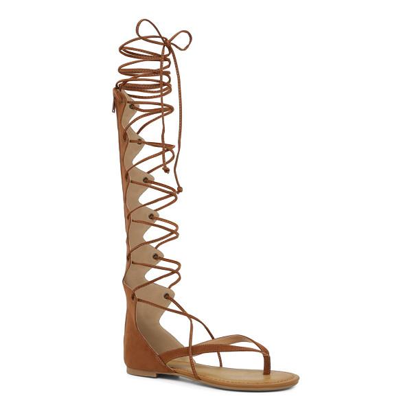 ALDO Boscarini sandals - A hit with high hemlines. Knee-high lace-up gladiator...