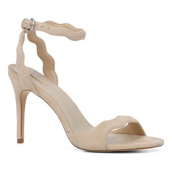 ALDO Carine sandals - Scalloped-edged suede adds a modern twist to this ankle...