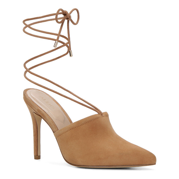 ALDO Carolina - Mules go major. This sharp pair laces around the ankle for...