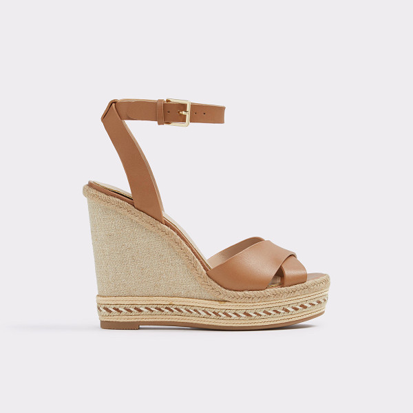 ALDO Clodia - A boho-inspired rope-wrapped wedge heel marries slender...
