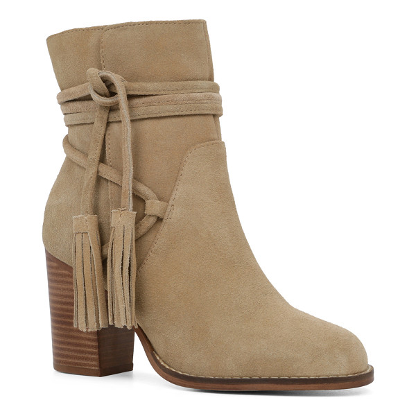 ALDO Contessina - We love the fringe-tassel zip and high stacked heel on this...