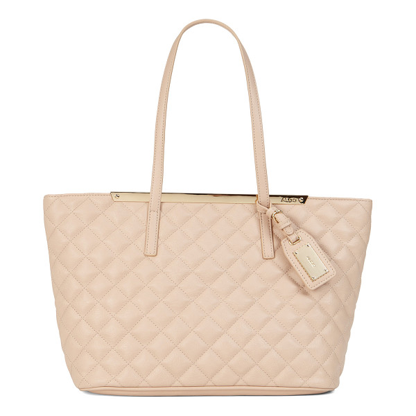 ALDO Crabapple shoulder bag - Lush quilted textile, a gloden trim and a clean-lined...