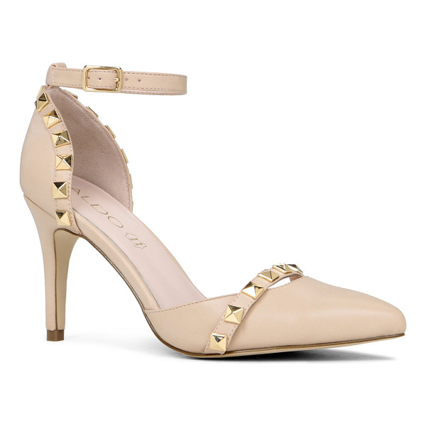 ALDO Drevia pumps - Ankle strap. - Single sole. - Pointy toe. - Studded detail....