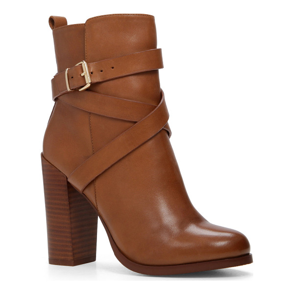 ALDO Elassa - Tough and lovely: a block heel and buckles firm up your