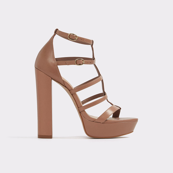 ALDO Elyni - Caged straps and a stacked, block heel unite for a