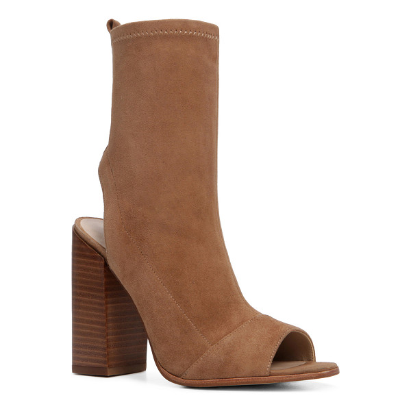 ALDO Ibania - Play peek-a-boo with this supple leather bootie. Cut-outs