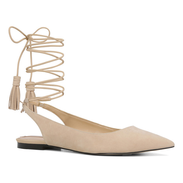 ALDO Kailang flats - The pointy-toe flat revamped with a modern metal heel cap...
