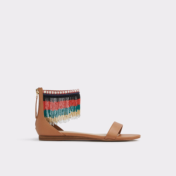 ALDO Larysa - Beauty and the beads: a standout flat sandal, draped in a