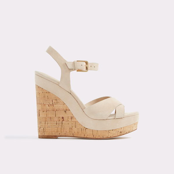 ALDO Madyson - A stunning cork-covered wedge heel marries slender leather...