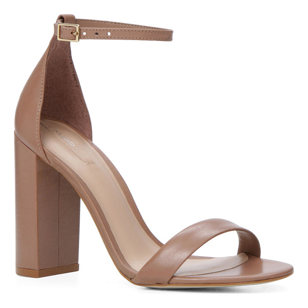 ALDO Margaree - What we mean by skyscrapers: stacked heel and demure straps...