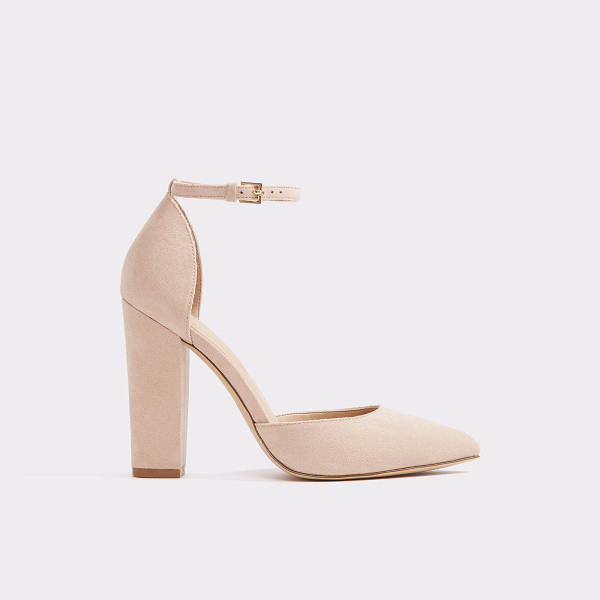 ALDO Nicholes - A 40's inspired stacked heel ankle strap pump, swathed in...