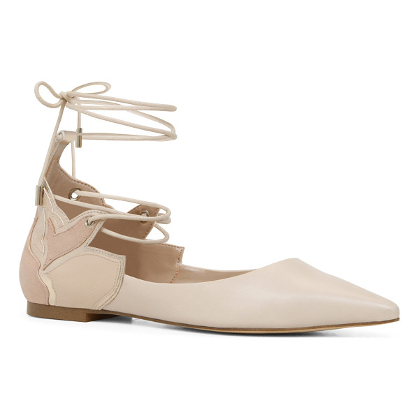 ALDO Nitis - A stylish point-toe flat with crisscross ties that secure