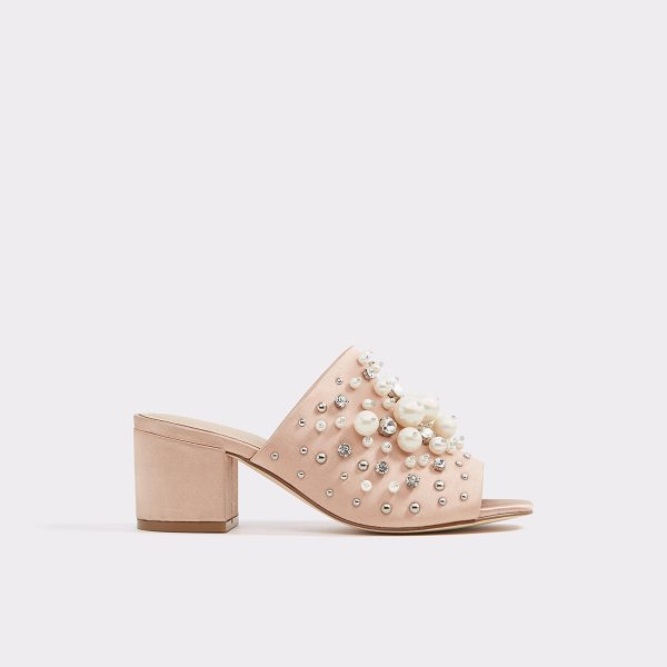 ALDO Pearls - Fit for a princess, this satin mule illuminates with...