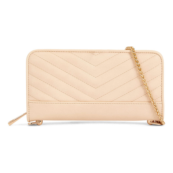 ALDO Plate - A zipper contoured wallet turned clutch with the addition...