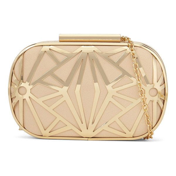 ALDO Rinon clutch - Gorgeously gilded with a removable chain strap-this petite...