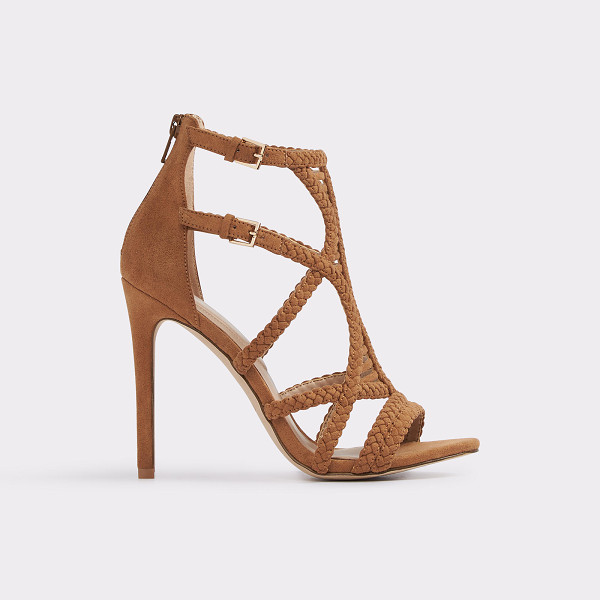 ALDO Sinfony - Sparkle-topped suede straps and a laced caged silhouette