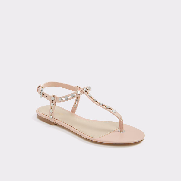 ALDO Starda - Rock steady-these studded thong sandals feature gold-tone...