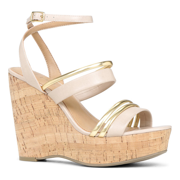ALDO Treng sandals - Ankle strap. - Cork-like wedge. - Round toe. - Open toe. -...