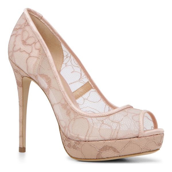 ALDO Velalla - Play peek-a-boo in this semi-see-through lace pump. Sultry...
