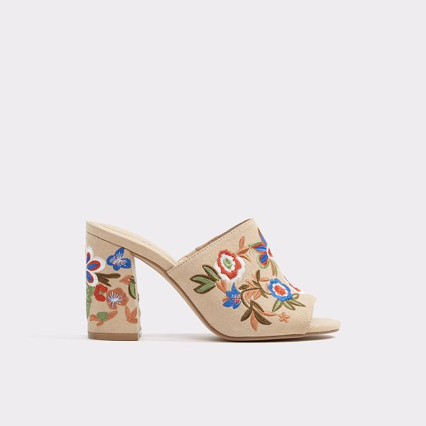 ALDO Yaessi - A minimalist leather mule blooms with an eclectic bouquet...