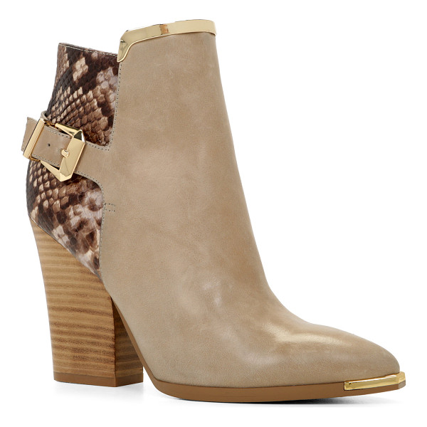 ALDO Yolandah boots - The gold metal accents add the finishing touch to these...