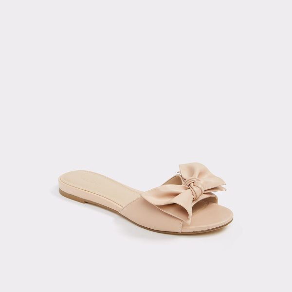 ALDO Zieviel - Totally bow-dacious: a simple slide sandal all dressed up...